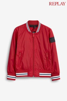 Replay® Kids Red Bomber Jacket