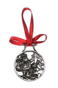 English Pewter Company Santa & Snowman Christmas Decoration
