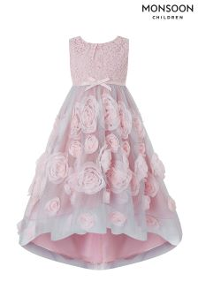 Monsoon Pink Cascadia Rose Dress
