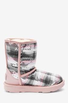 UGG® Kids Classic Short II Rainbow Crystal Boots