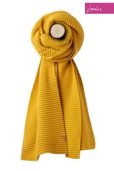 Joules Gold Soft Crinkle Scarf