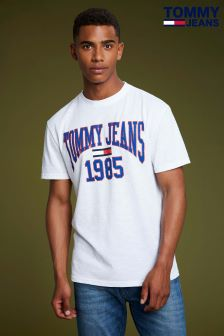 Tommy Jeans White Collegiate Tee