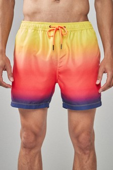 Ombre Print Swim Shorts