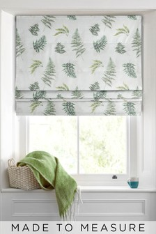 Fern Print Green Made To Measure Roman Blind
