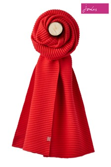 Joules Red Soft Crinkle Scarf