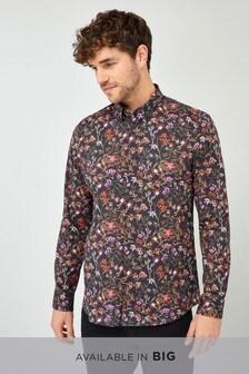 Slim Fit Long Sleeve Printed Shirt