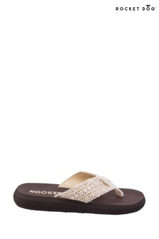Rocket Dog Cream Spotlight Lima Slip-On Sandals
