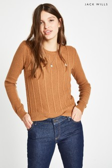 Jack Wills Camel Tinsbury Cable Crew