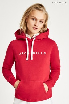 Jack Wills Jw Red Hunston Graphic Hoody