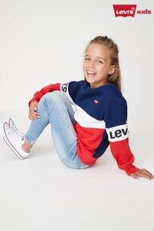 سترة أزرق داكن أحمر كتل لون من Levi's
