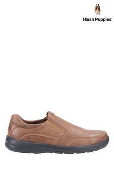 Hush Puppies Brown Aaron Slip-On Shoes