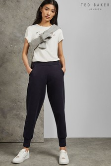 Ted Baker Navy Radoni Jersey Jogger With Rayon Trim