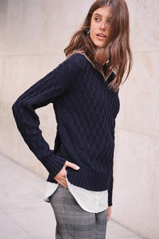 Cable Layer Sweater