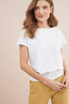 Shirred Hem Top