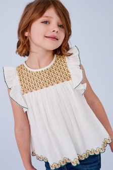 Geo Embroidered Blouse (3-16yrs)