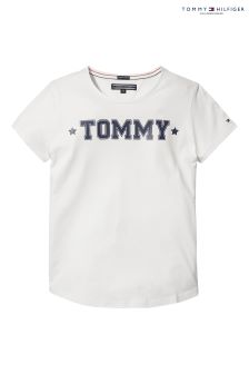 Tommy Hilfiger White Basic Tee