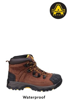 Amblers Safety Brown FS39 Waterproof Lace-Up Safety Boots