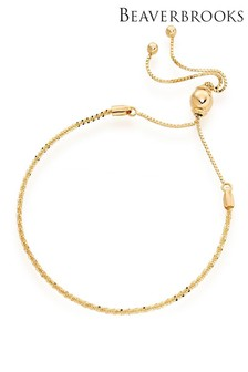 Beaverbrooks 9ct Gold Slider Bracelet