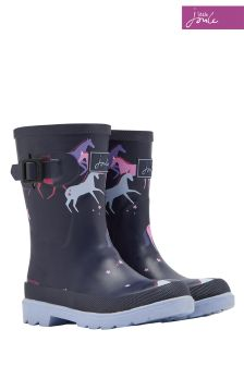 Joules Girls Navy Unicorn Printed Welly