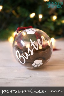 Personalised Pet Treat Bauble by Jonny's Sister
