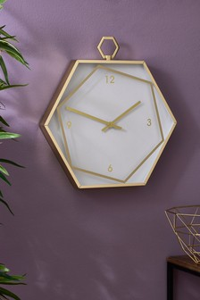 Hexagon Wall Clock