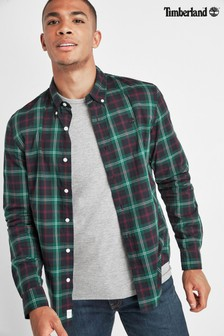 Timberland Green/Navy Slim Fit Tartan Shirt