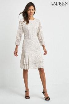 Lauren Ralph Lauren® Halima Kleid, Schwarz/Weiß