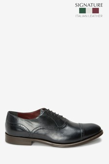 Signature Leather Punched Toe Cap Shoes