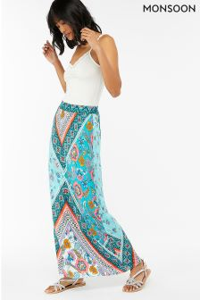 Monsoon Blue Marianna Jersey Maxi Skirt