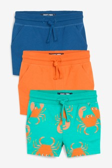 3 Pack Crab All Over Print Shorts (3個月至7歲)