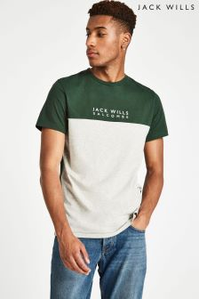 Jack Wills Light Ash Marl Westmore Colourblock T-Shirt