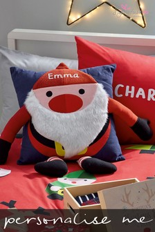 Personalised Jolly Santa 3D Cushion