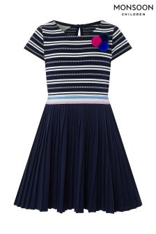Monsoon Navy Lynette 2 In 1 Dress