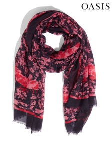 Oasis Natural Floral Scarf