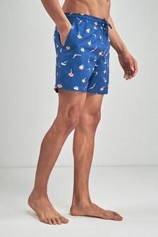 Diver Print Swim Shorts