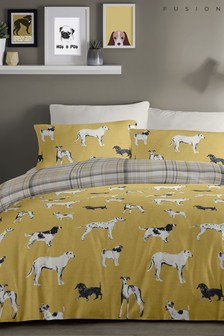 Fusion Dogs Duvet Cover and Pillowcase Set