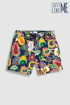 Matching Family Mens Fruit Print Swim Shorts