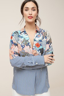 Shoulder Overhead Stripe Shirt