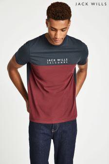 Jack Wills Damson Westmore Colourblock T-Shirt