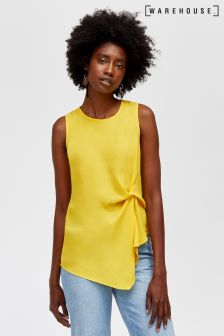 Warehouse Yellow Knot Side Top