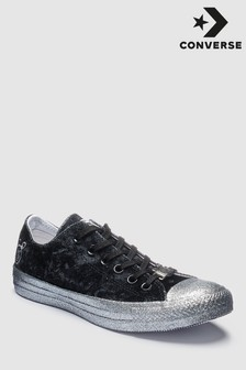 Converse Miley Cyrus Black Chuck All Star Ox Velvet Trainer
