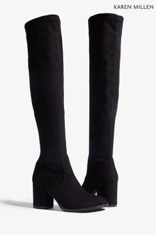 635bdb522b2 Karen Millen Black Signature Stretch Over The Knee Boot