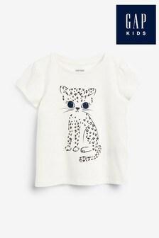 Gap Cat Cartoon Graphic Short Sleeve T-Shirt