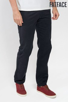 FatFace Black Modern Coastal Chino