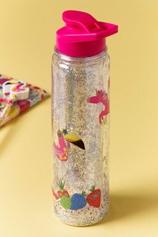Botella de agua con diseño de purpurina