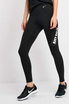 Nike Black Just Do It One Leggings