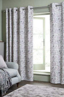 Ditsy Floral Eyelet Curtains