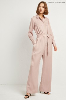French Connection Camel 70's Jumpsuit