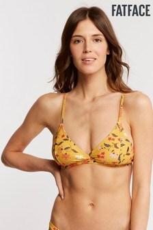 FatFace Yellow Tropics Bikini Top