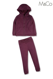 M&Co Zip Hoodie And Jogger Set